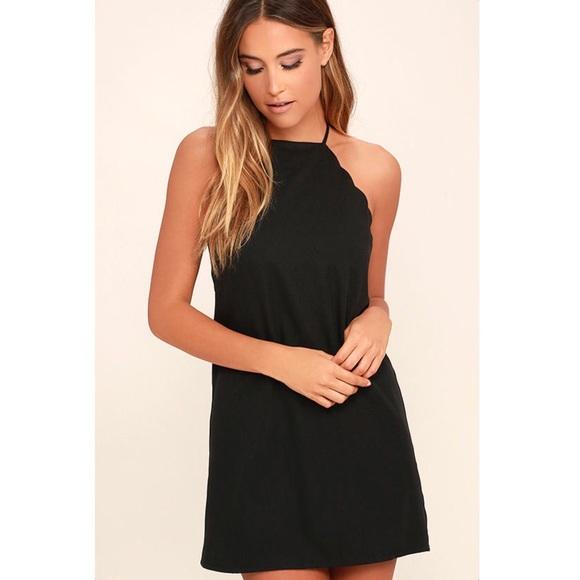 Lulus Dresses Lulus Black Scalloped Dress Poshmark